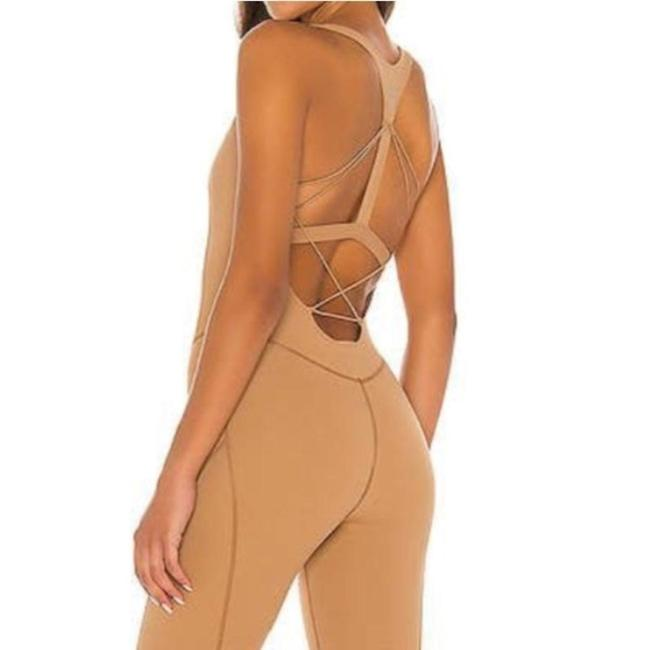 Item - Tan Fp Movement Nirvana Now One Piece Bodysuit Jumper In Whispering Forest Activewear Bottoms Size 8 (M, 29, 30)