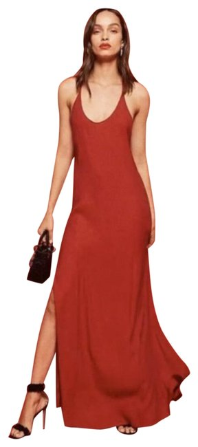 Item - Red Miguel Cross-back Maxi Long Formal Dress Size 8 (M)
