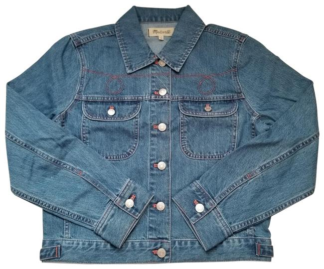 Item - Blue Womens The Crop Jean In Curlicue Wash Small Jacket Size 6 (S)