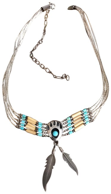 Item - Vintage Southwestern Bear Claw Liquid Sterling Silver Necklace