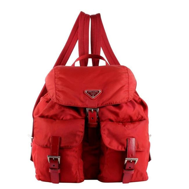 Item - Excellent Condition 8651 Red Nylon Backpack