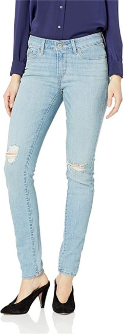 Item - Ice Comet Distressed Mid Rise Skinny Jeans Size 32 (8, M)