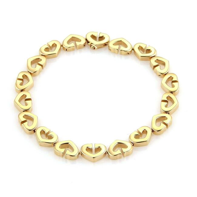 Item - 25198... C De 18k Yellow Gold Heart Link Bracelet