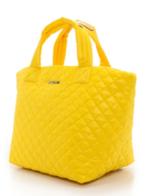 Item - Small Quilted Sunflower Yellow Nylon Tote