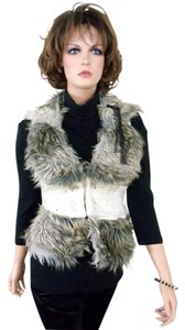 Jessica Simpson Faux Fur Sweater Vest Cardigan