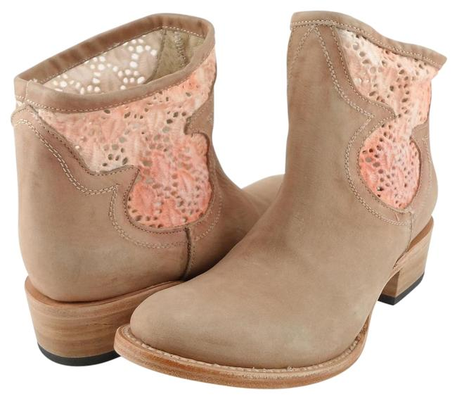 Item - Ivory Peach Cbcro Leather Ankle Boots/Booties Size US 7 Regular (M, B)