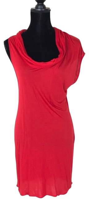 Item - Red Oriental Mid-length Cocktail Dress Size 8 (M)