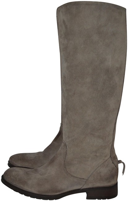 Vera Wang Lavender Label Taupe Suede 1/2 Zip Riding Boots/Booties Size US 7 Regular (M, B) Vera Wang Lavender Label Taupe Suede 1/2 Zip Riding Boots/Booties Size US 7 Regular (M, B) Image 1