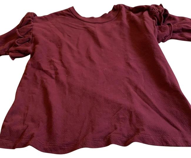 Item - Long Sleeved Shirt Red/Purple Sweater