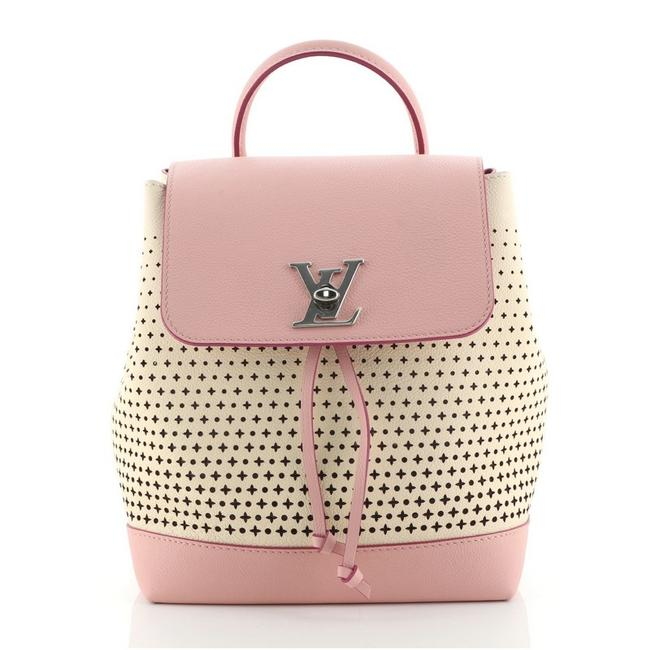 Item - Lockme Backpack Perforated Neutral Pink Leather Baguette