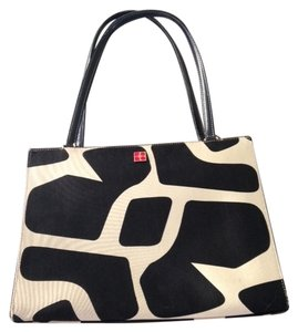 Kate Spade Tote in Black and cream animal print