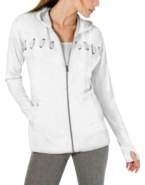 Item - White Heather Women's Lace-up Full Zip Jacket Activewear Outerwear Size 2 (XS)