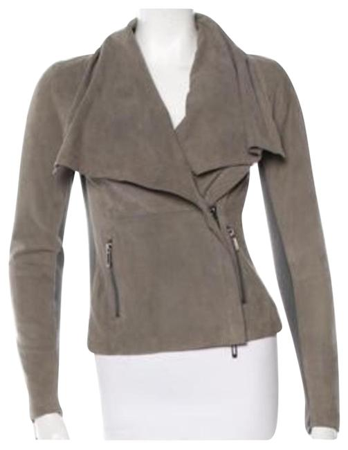 Item - Grey Scuba Suede Jacket Size 4 (S)