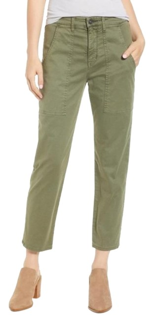 Hudson Olive Green The Leverage Ankle Pants Size 0 (XS, 25) Hudson Olive Green The Leverage Ankle Pants Size 0 (XS, 25) Image 1