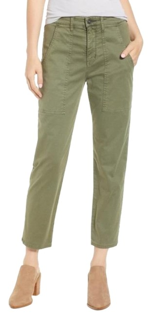 Hudson Olive Green The Leverage Ankle Pants Size 00 (XXS, 24) Hudson Olive Green The Leverage Ankle Pants Size 00 (XXS, 24) Image 1