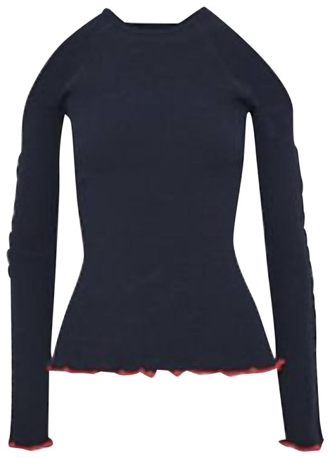 Item - Contrast Pipping Navy Sweater