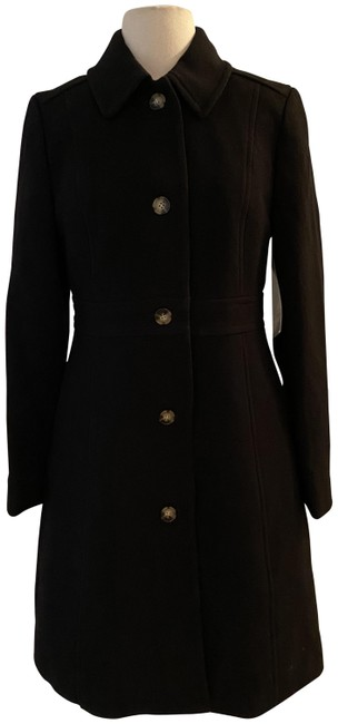 Item - Black Tall Classic Lady Day In Italian Double-cloth Wool. T8 Coat Size 8 (M)