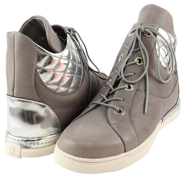 Item - Stone Silver Chairman Leather Wedge Sneakers Boots/Booties Size US 6.5 Regular (M, B)
