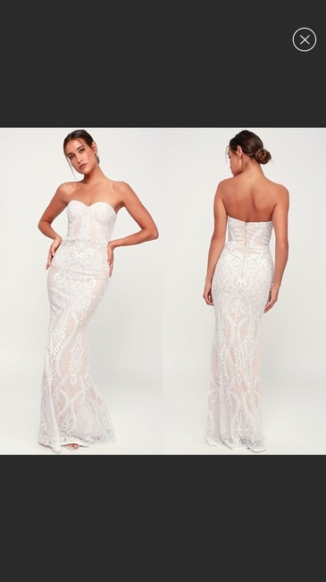 Item - Cream/White You Belong with Me Sweetheart Gown Feminine Wedding Dress Size 8 (M)