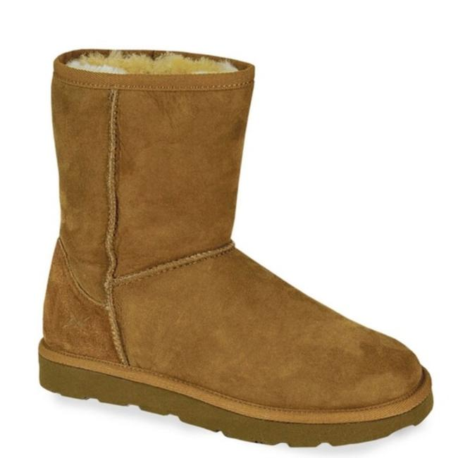 Item - Brown Short Genuine Sheepskin Shearling Boots/Booties Size US 8 Regular (M, B)