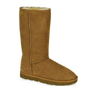 Aetrex Ugg Winter Sheepskin Shearling Brown Boots