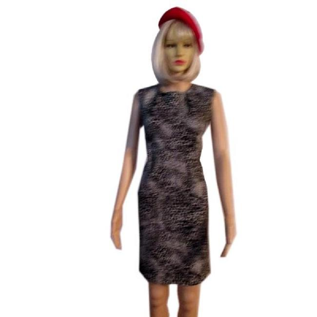 Item - Beige with Black Animal Print & (Sku 000231-4) Night Out Dress Size 4 (S)