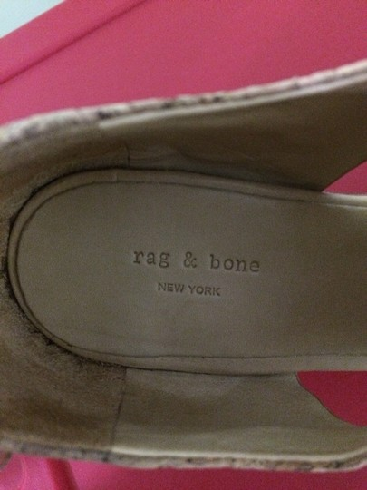 Rag & Bone Naturally Sand Color Leather With Linen And Cork Leather Detail Platforms