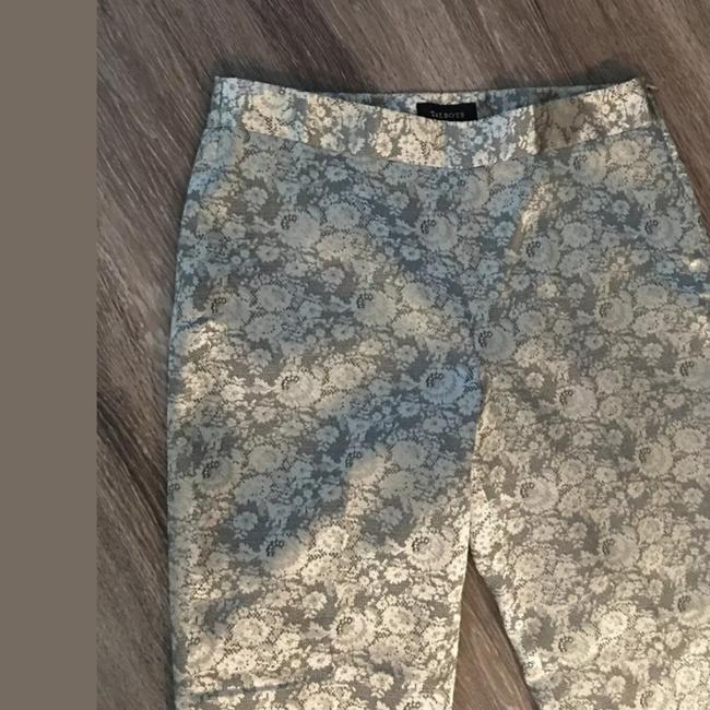 Talbots Gold Tan Floral Lace Feel Heritage Pants Size 10 (M, 31) Talbots Gold Tan Floral Lace Feel Heritage Pants Size 10 (M, 31) Image 2