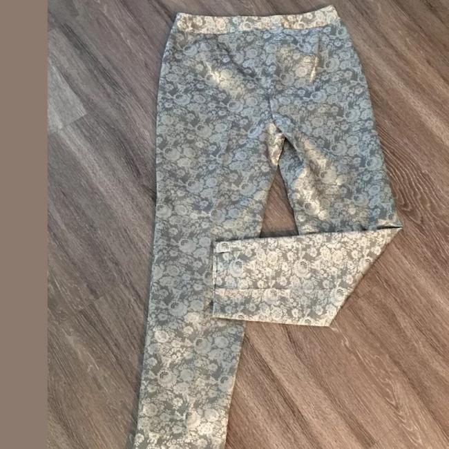 Talbots Gold Tan Floral Lace Feel Heritage Pants Size 10 (M, 31) Talbots Gold Tan Floral Lace Feel Heritage Pants Size 10 (M, 31) Image 4