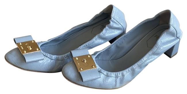 Fendi Powder Blue Scrunched Pumps Size EU 37.5 (Approx. US 7.5) Regular (M, B) Fendi Powder Blue Scrunched Pumps Size EU 37.5 (Approx. US 7.5) Regular (M, B) Image 1