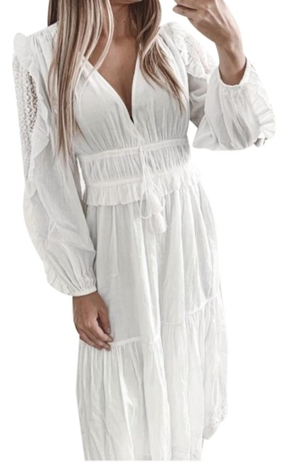 Item - White Sheila Pristine Mid-length Casual Maxi Dress Size 6 (S)