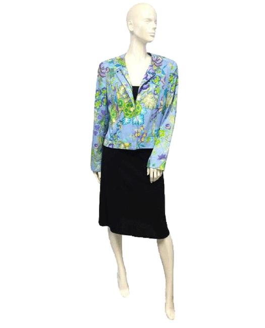 Item - Purple Green Yellow 80's Sky Blue with A Floral Pattern Sku 000043 Blazer Size 8 (M)
