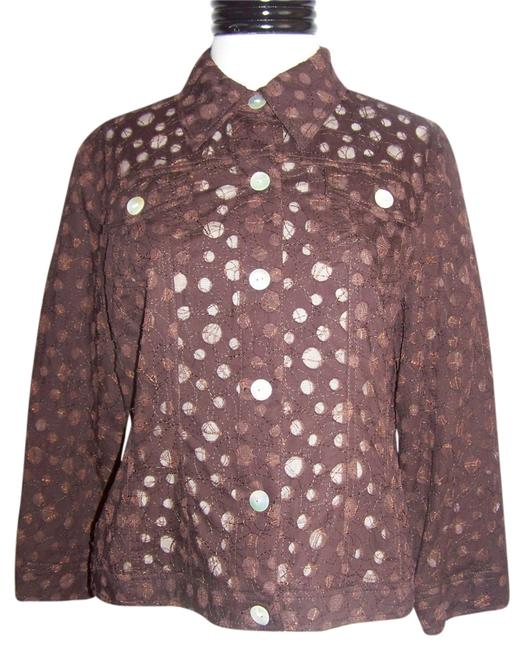 Hearts of Palm Light Nwt Brown Jacket