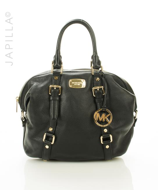 Michael Kors Pebbled Purse Black Leather Satchel Michael Kors Pebbled Purse Black Leather Satchel Image 1
