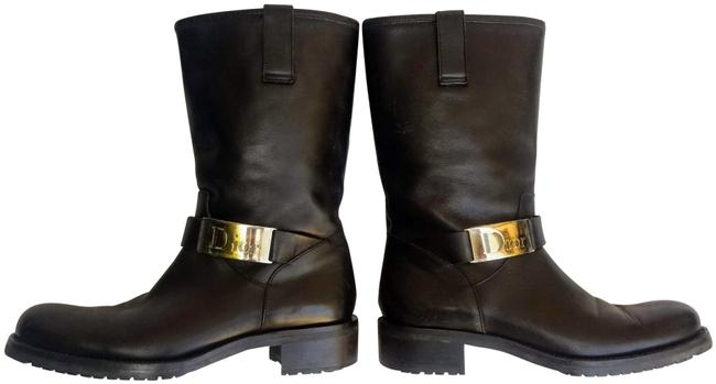 Item - Black Christian Mid-calf Length Leather Boots/Booties Size US 8 Regular (M, B)
