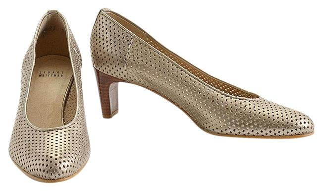 Item - Gold Rdc11045- Perforated Leather Pumps Size US 9 Regular (M, B)