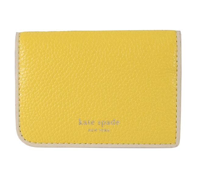 Item - Yellow Vibrant Canary Leather Sam Small Bifold Wallet