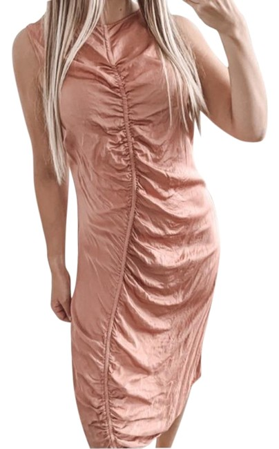 Item - Pink Gathered In Petal Mid-length Casual Maxi Dress Size 4 (S)