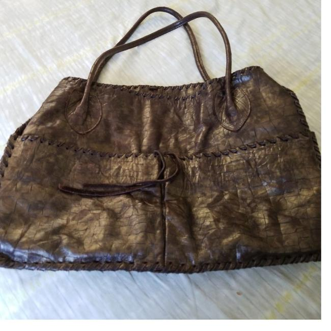 Item - Super Hippie Chic Textured Brown Embossed Soft Leather Tote