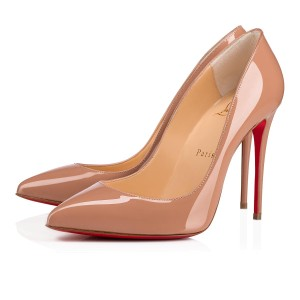 Christian Louboutin Pigalle Follies Stiletto Suede Classic Nude Pumps