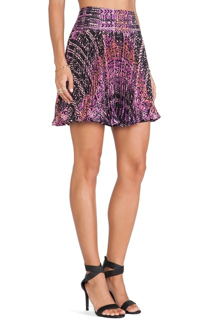 Item - Purple Orchid Multi Flippy Weave Skirt Size 12 (L, 32, 33)