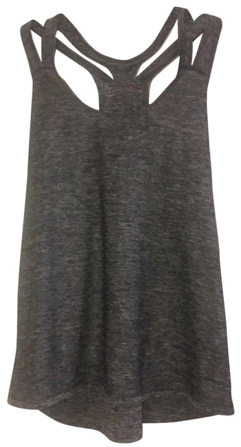 Item - Gray Double Strap Activewear Top Size 12 (L)