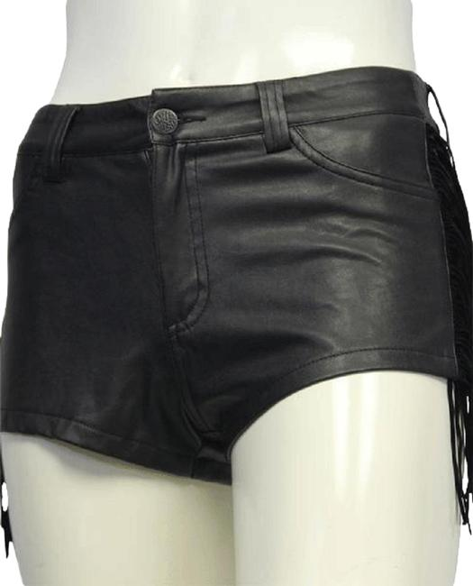 Item - Black Fringed Vegan Leather S (Sku 000039) Shorts Size 4 (S, 27)