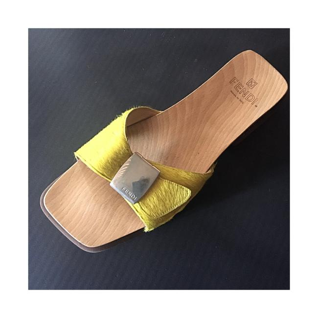 Item - Canary Yellow With Buckle Mules/Slides Size EU 37 (Approx. US 7) Regular (M, B)