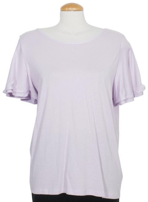 Item - Light Purple Jersey Cotton Modal Knit Flutter Sleeve Xxl Tee Shirt Size 18 (XL, Plus 0x)