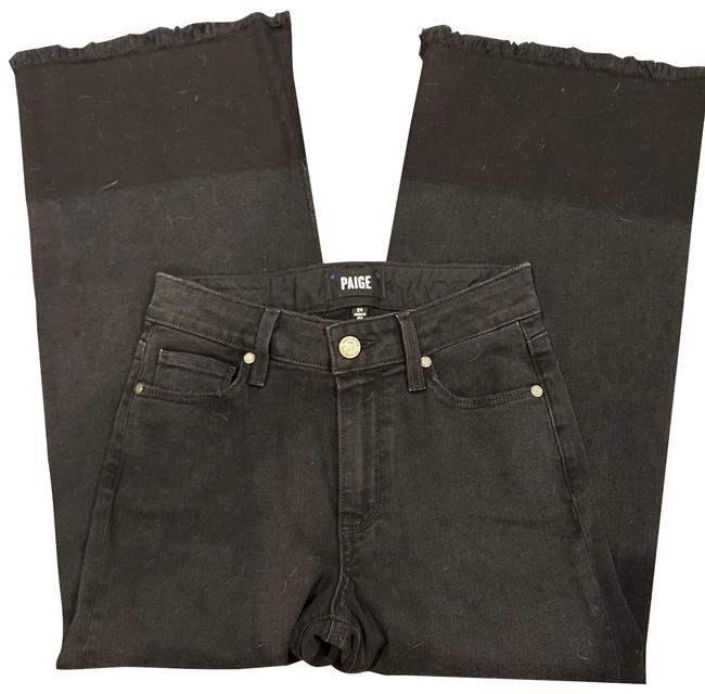 Item - Black Dark Rinse Trouser/Wide Leg Jeans Size 0 (XS, 25)