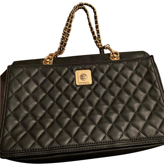 Item - Love Caviar Quilted Black Red Interior Calfskin Leather Satchel