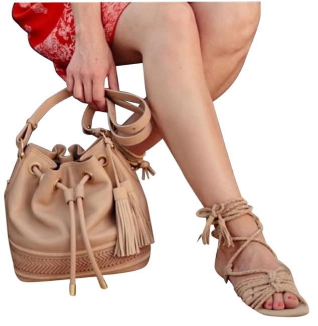 Joie Tan Falk Ankle Wrap Braided Suede Sandals Size US 9 Regular (M, B) Joie Tan Falk Ankle Wrap Braided Suede Sandals Size US 9 Regular (M, B) Image 1