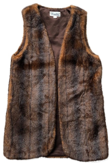 Item - Brown Boutique Faux Fur Vest Size 4 (S)