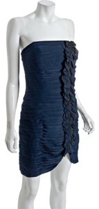 Shoshanna Ruched Party Strapless Ruffle Dress